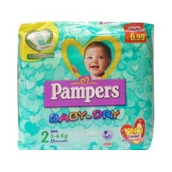 pampers baby dry downc mini 25 pz
