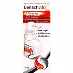 BENACTIVDOL GOLA*spray mucosa os 15 ml 8,75 mg/dose