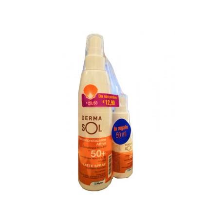 dermasol latte spray spf 50 200ml+50ml